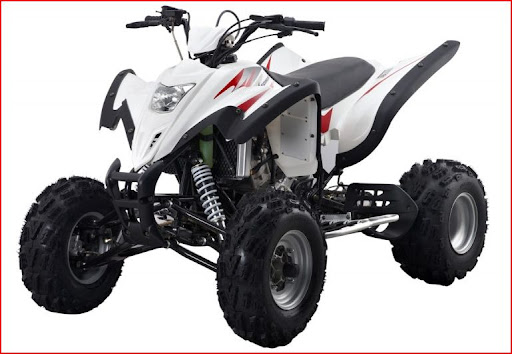 Hisun 450 Sports Quad with Watercooled Subaru Engine