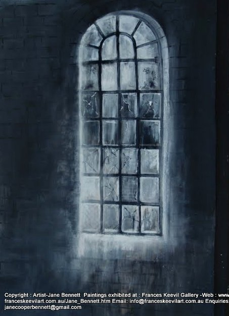 ' Eveleigh Window 1' 2011 mixed media on paper 131x 115cm by Jane Bennett Artist