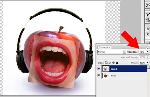 Colocando a imagem da boca