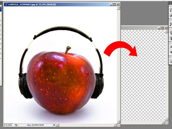 Inserindo a maçã no documento