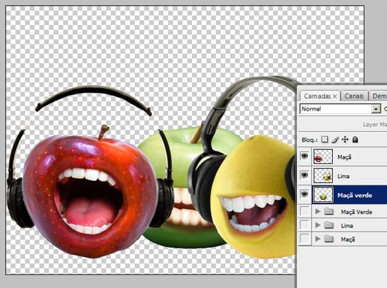 Frutas prontas, falta o cenários