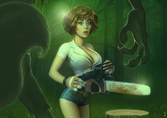 The Girl, The Chainsaw