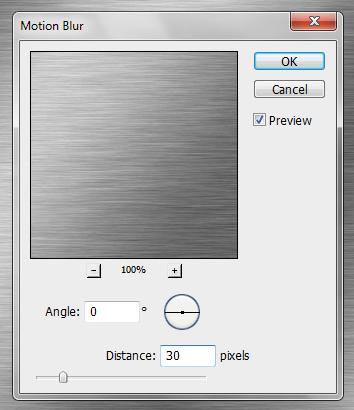 Configuração do filtro Motion Blur (Desfoque de Movimento)