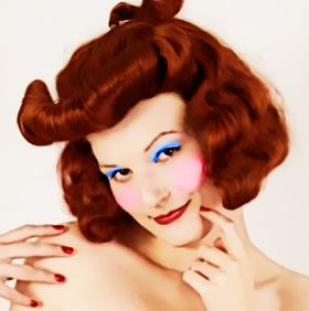 Após maquiagem na camada em modo Color