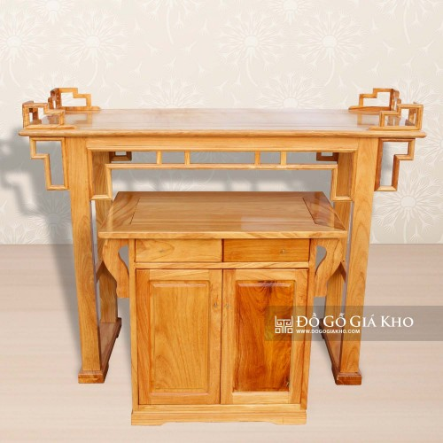 Bàn thờ gỗ Gõ kiểu tủ - BT048