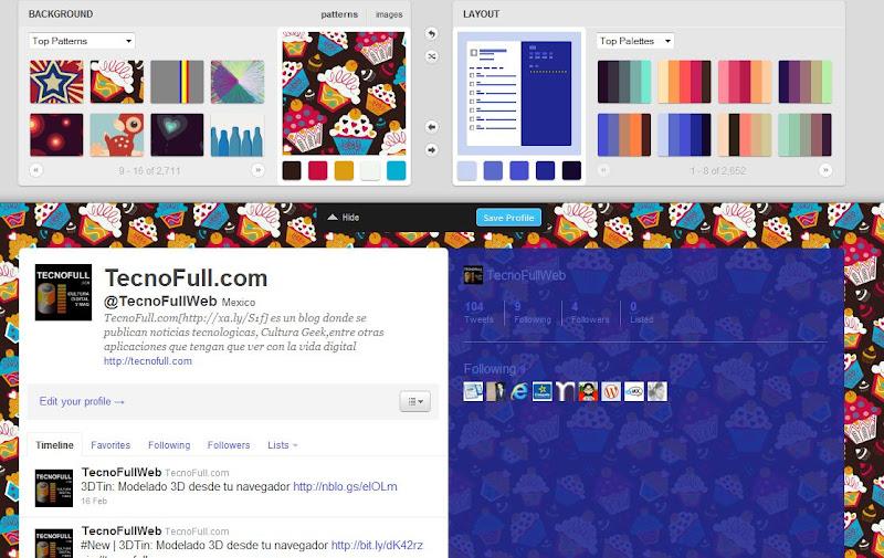 ColourLover Personalizando el theme de twitter
