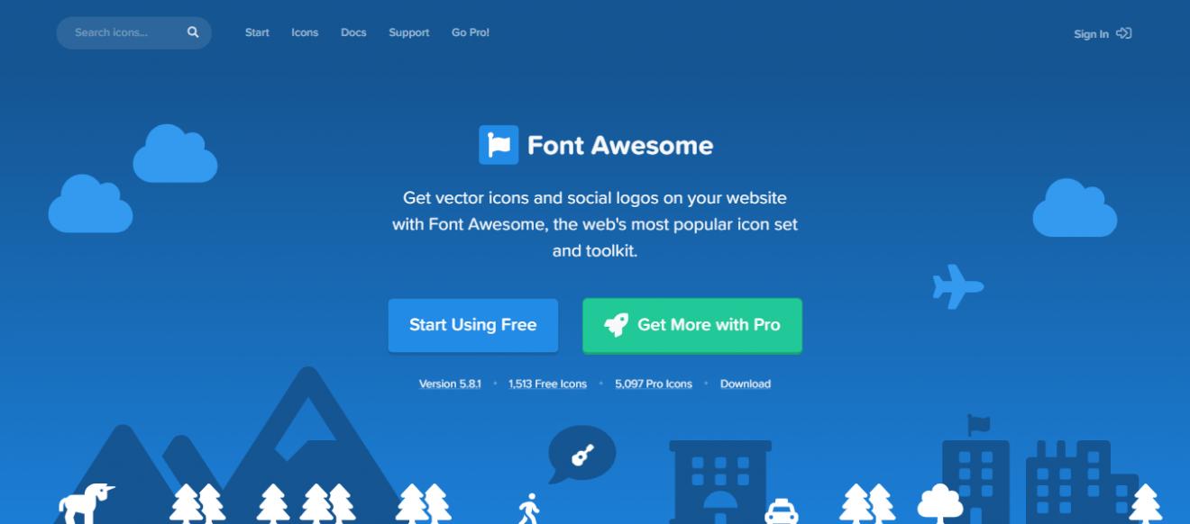 Font Awesome é site de ícones para wordpress