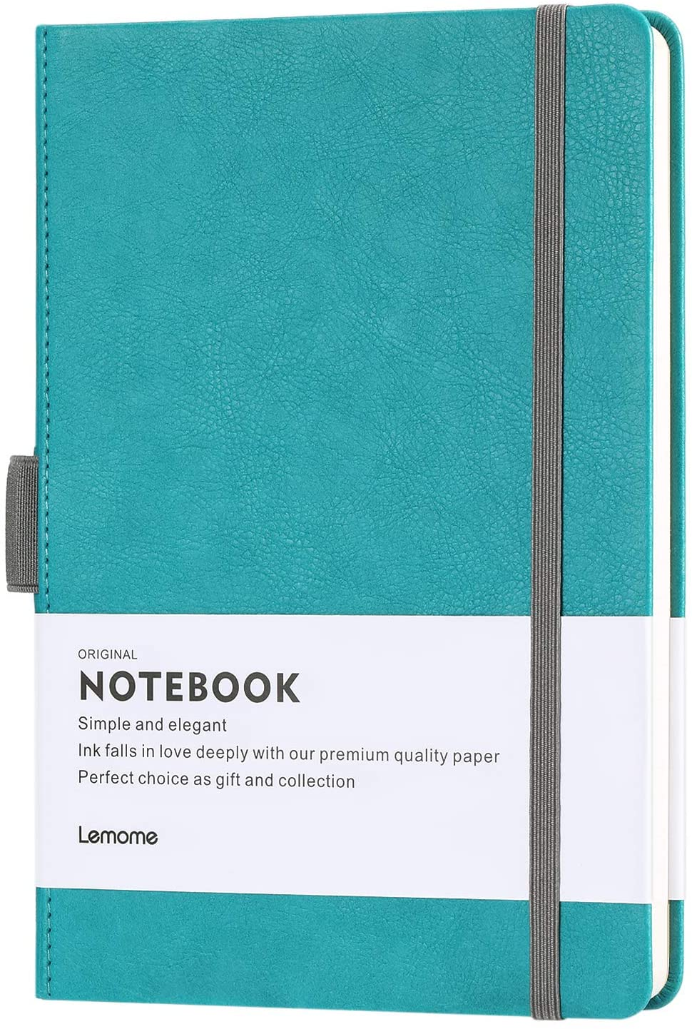 Turquoise classic writing notebook.