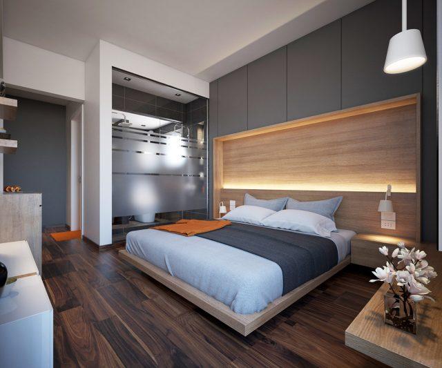 Phòng ngủ chung cư đề cao sự tối giản