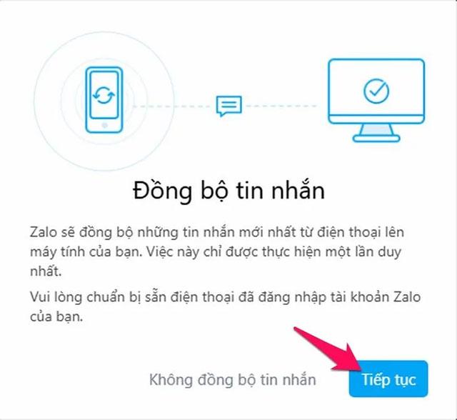 Đồng bộ tin nhắn zalo trên máy tính giúp bạn không bỏ lỡ tin nhắn nào