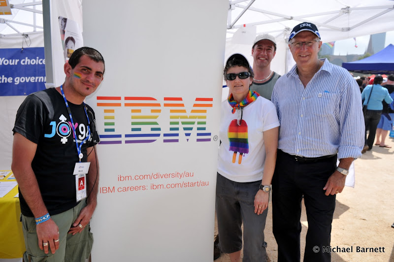 IBM and JOY 94.9 at the 2011 Melbourne Midsumma Carnival