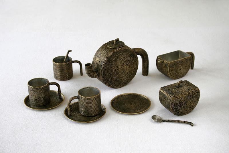 Dhokra Art Tea Set