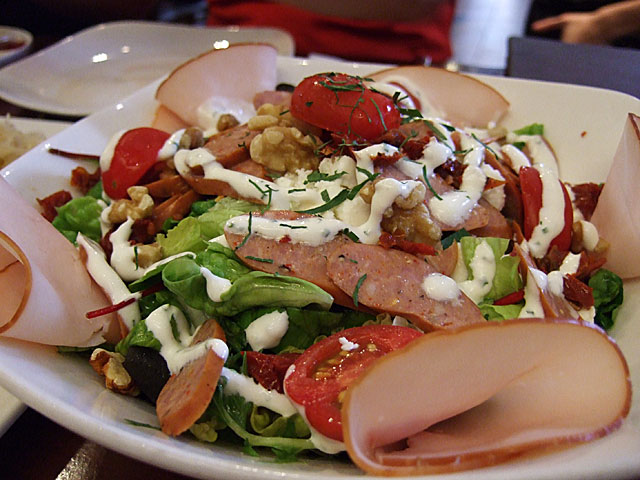 Salatteller mit Huh