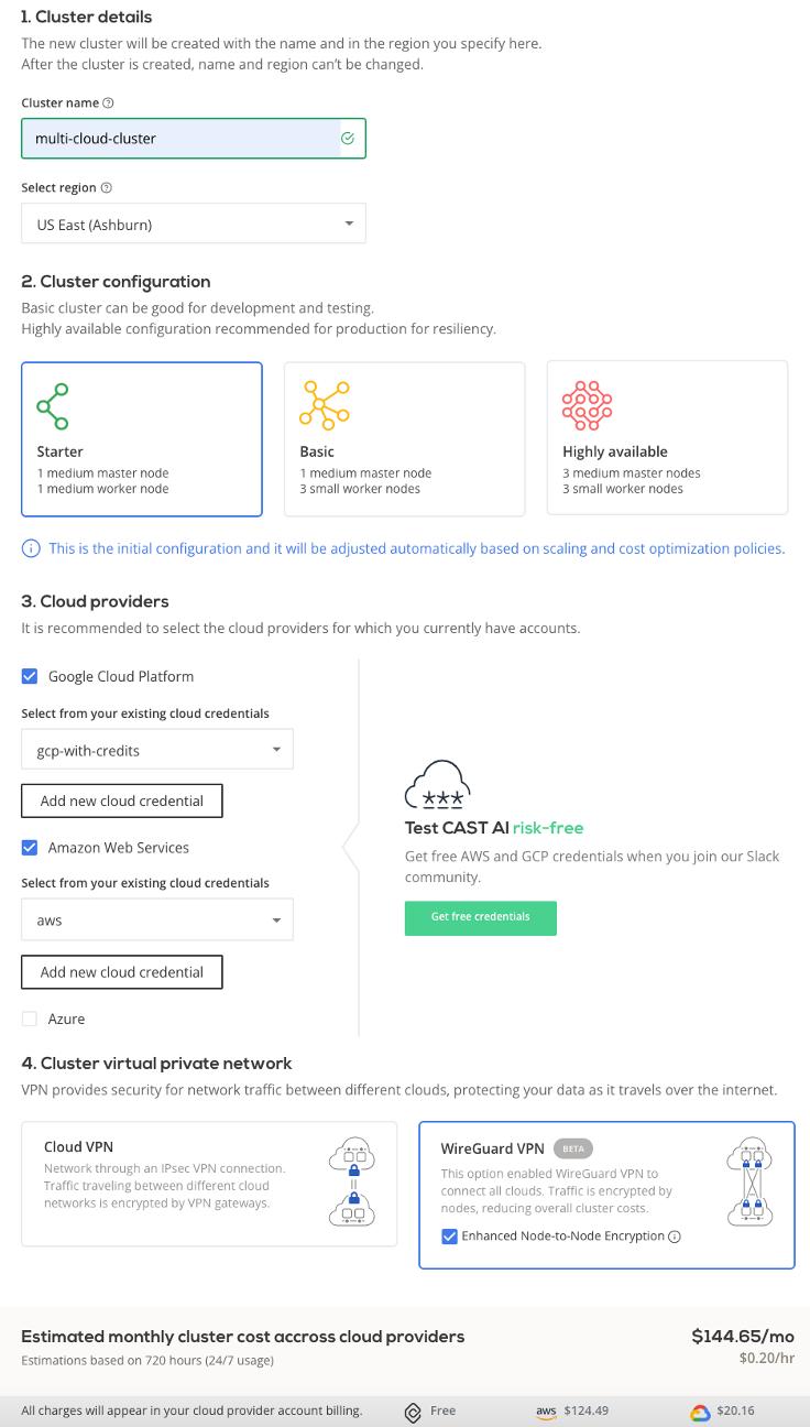create a multi cloud cluster