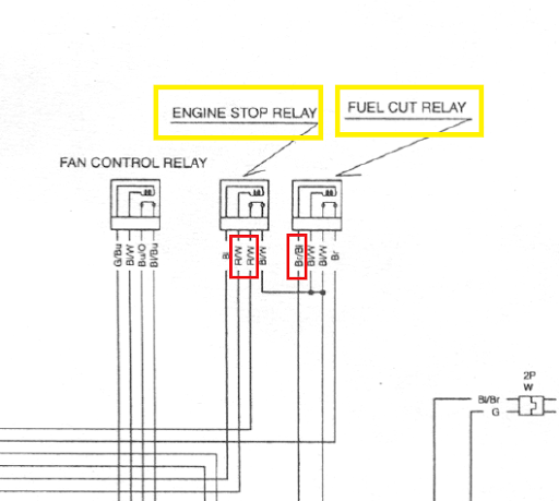 help electrical issues pics and info inside net pics of the relays and bridge i am not sure how to tell which r w wire is which on the diagram