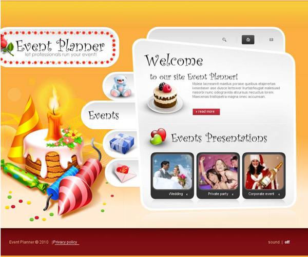 праздничный флеш сайт