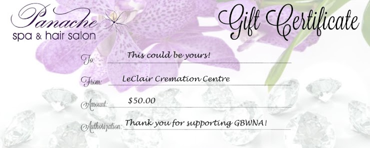 Thank you to LeClair Cremation Centre for donating this luxurious $50 Gift Certificate to Panache spa and hair salon! Check out Panache's services at https://www.panachespahairsalon.com