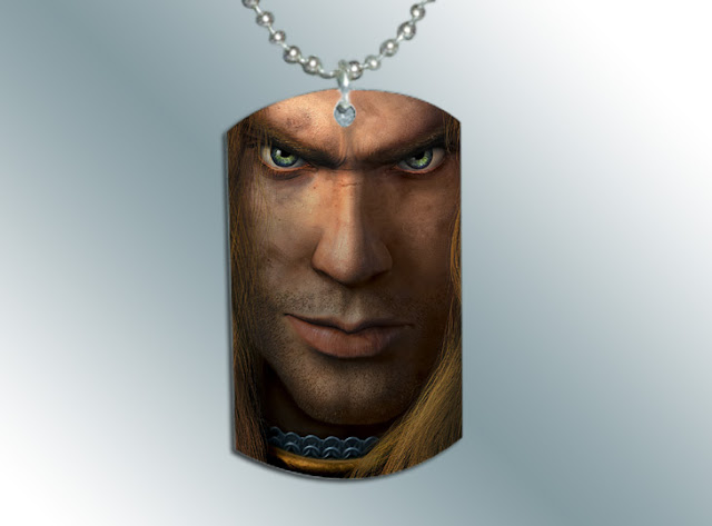 Warcraft Human Dog Tag Pendant Necklace