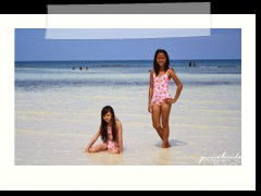 Nicole and Karen at Anda Global Beach Resort