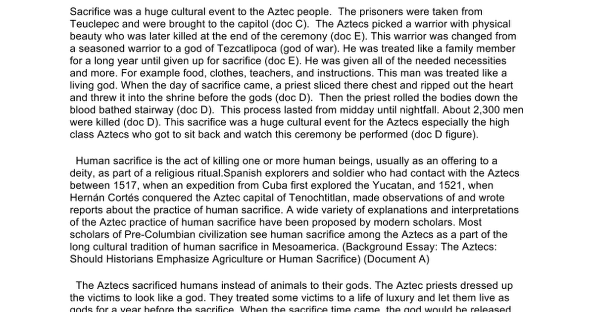 per group aztec essay google docs