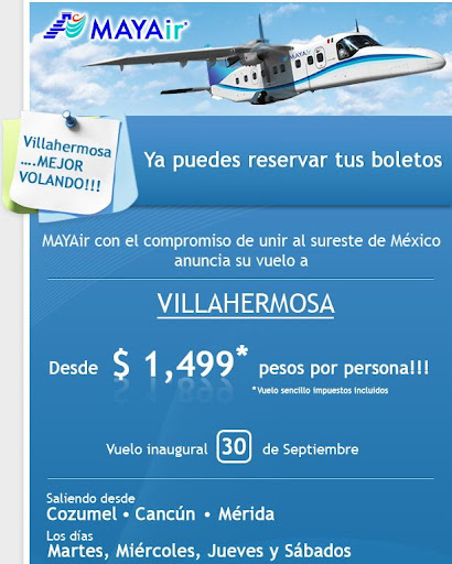 boleto de avion villahermosa