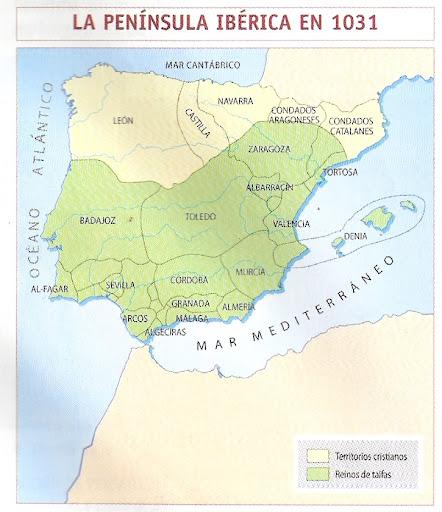 MAPA DE LA PENINSULA IBERICA EN 1031