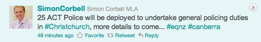 Simon Corbell Tweet
