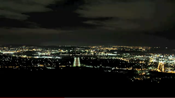 earth hour over canberra