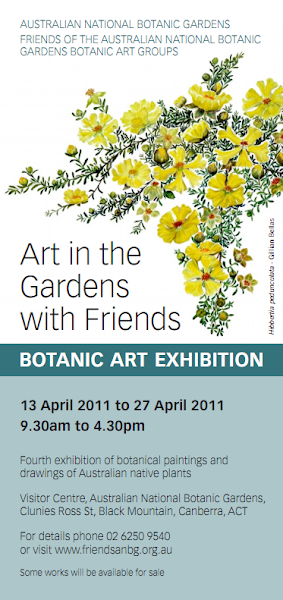botanic art flyer