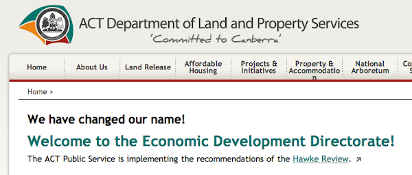 land and property services becomes economic development