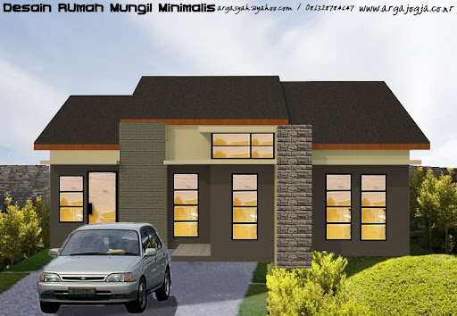 sanjaya profil beton desain rumah modern mungil minimalis