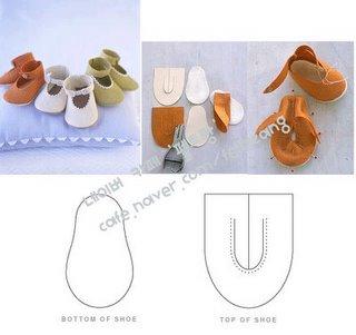 Выкройки обувь для куклы своими руками