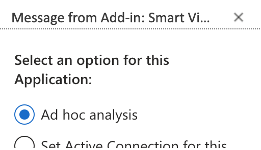 Oracle Smart View Ad hoc analysis selection