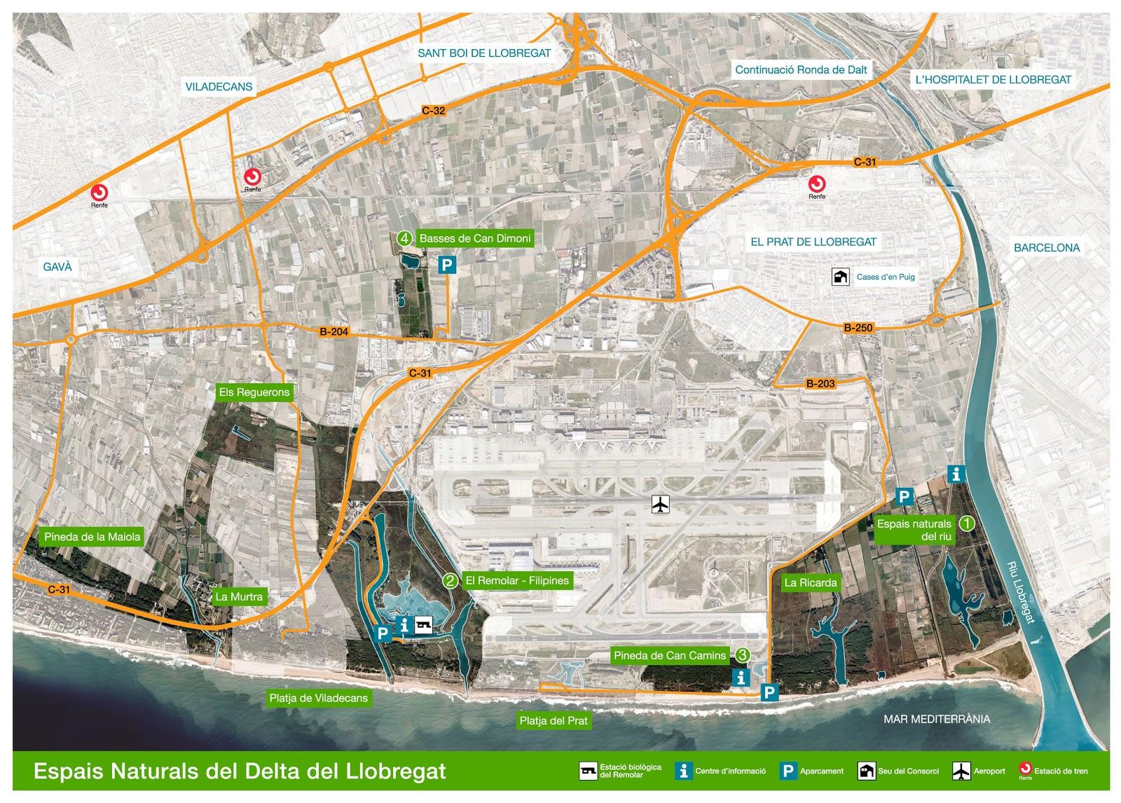 Delta Del Llobregat Mapa la Web Delta Del Llobregat