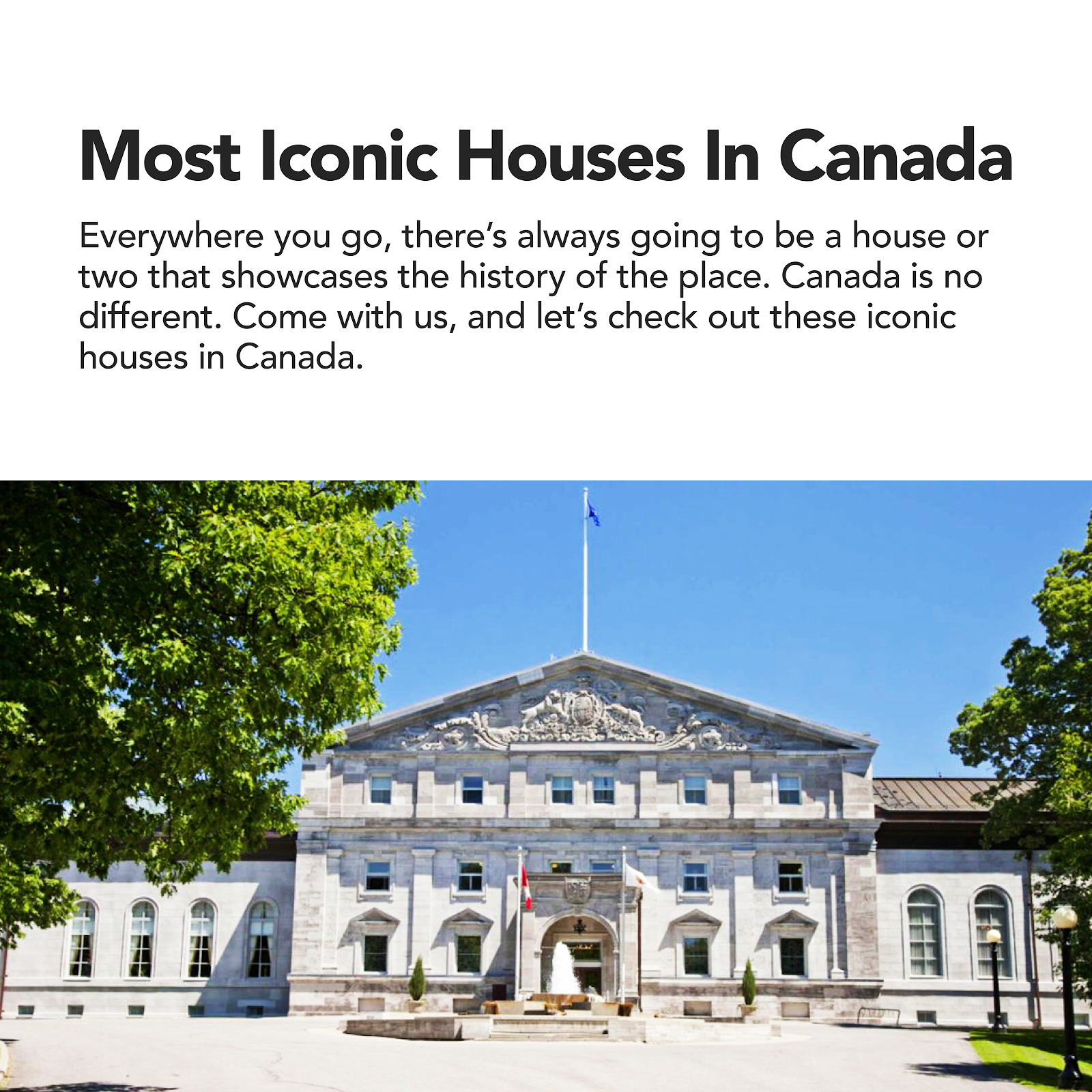 Most Iconic Houses in Canada real estate homes mansions historic