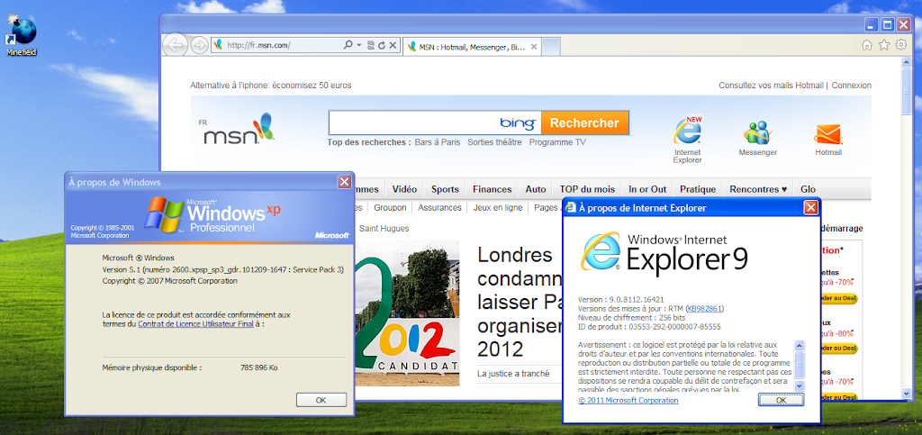 comment installer Internet Explorer 9 sur mac