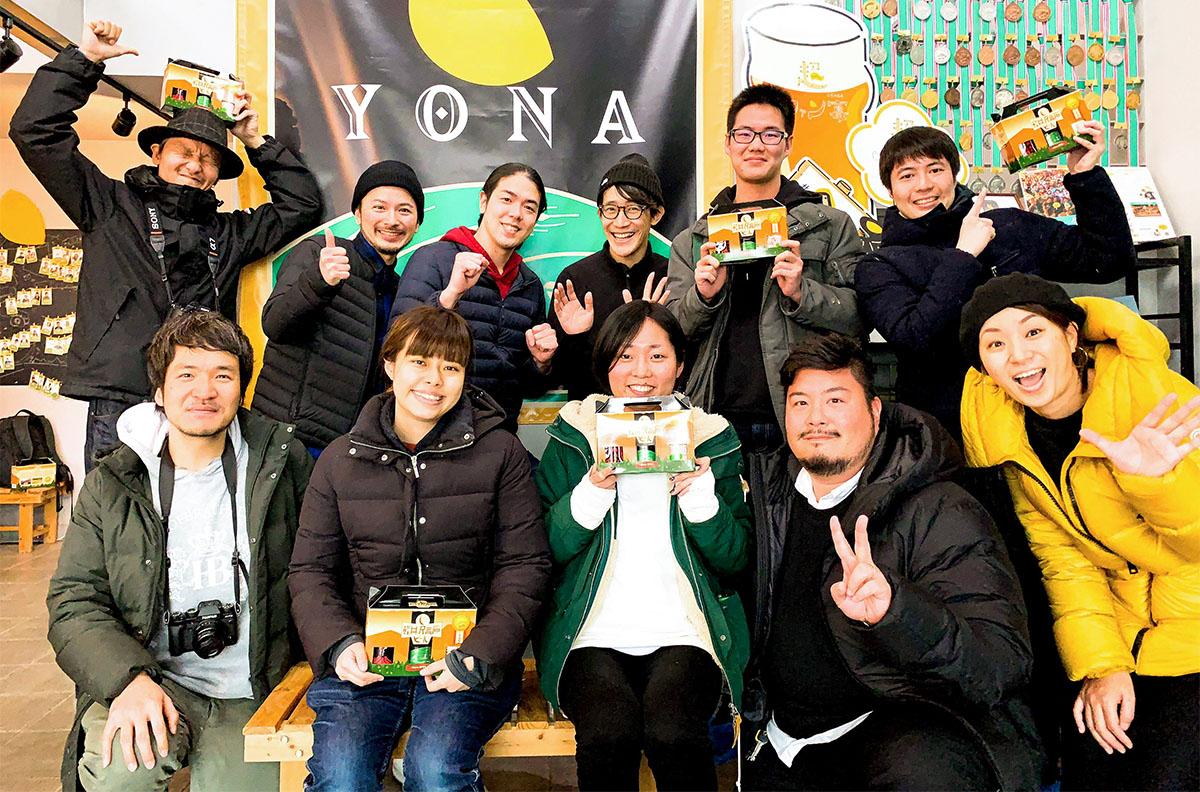 2019年冬、小杉湯のメンバーがヤッホーブルーイングの醸造所に来た時の様子