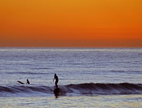 Surfer at Sundown