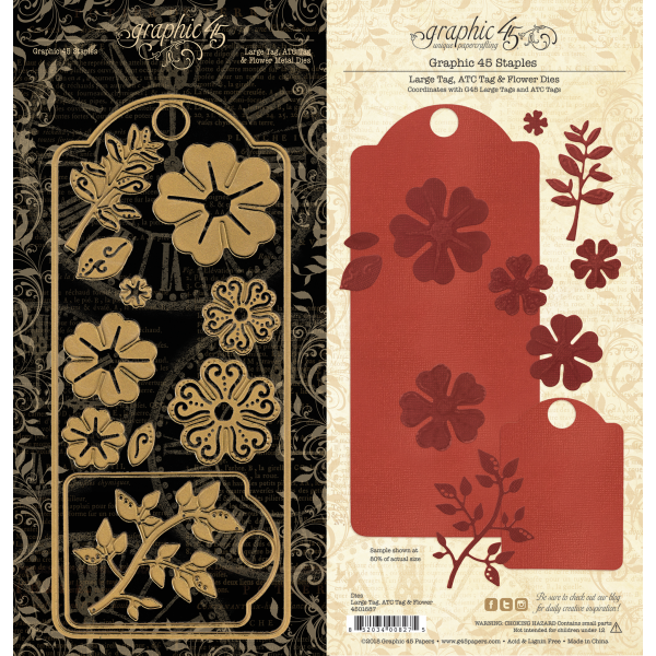 Large Tag, ATC Tag and Flower Dies