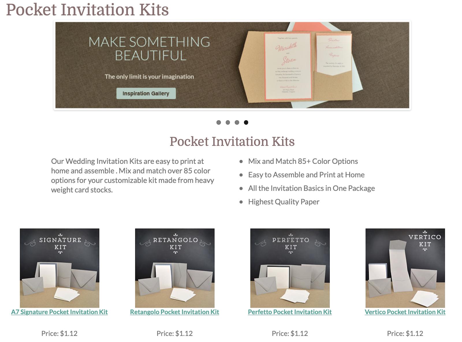 DIY wedding invitation kit by Cards & Pockets