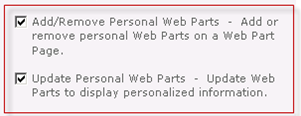 Enable personalize this page menu