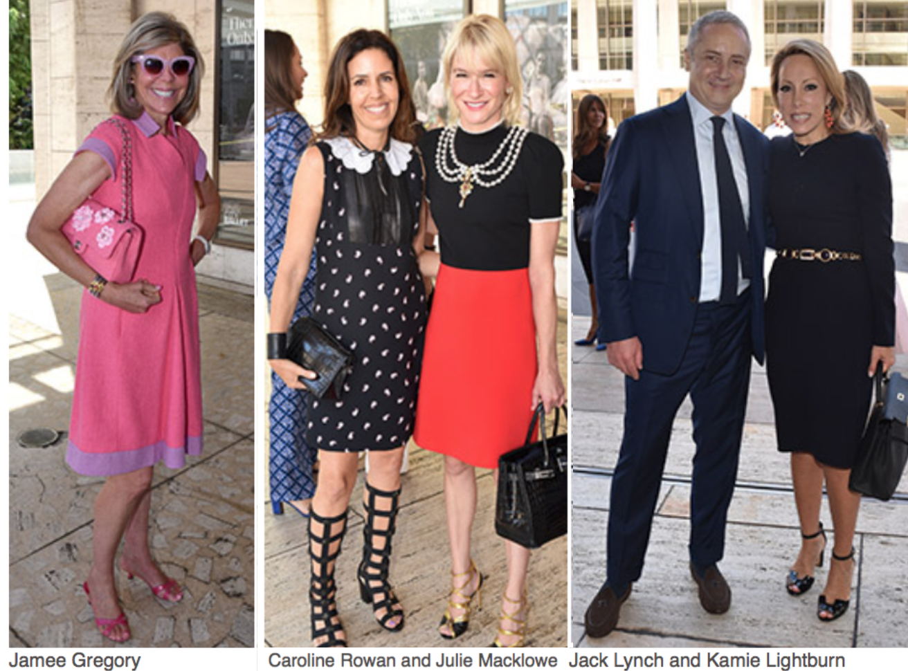 New York Fashion Week The kick-off to this week-long revelry of style and commerce is The Couture Council Luncheon and Award for the Artistry of Fashion.  Jamee Gregory, Caroline Rowan Julie Macklowe, Jack Lynch, Kamie Lightburn