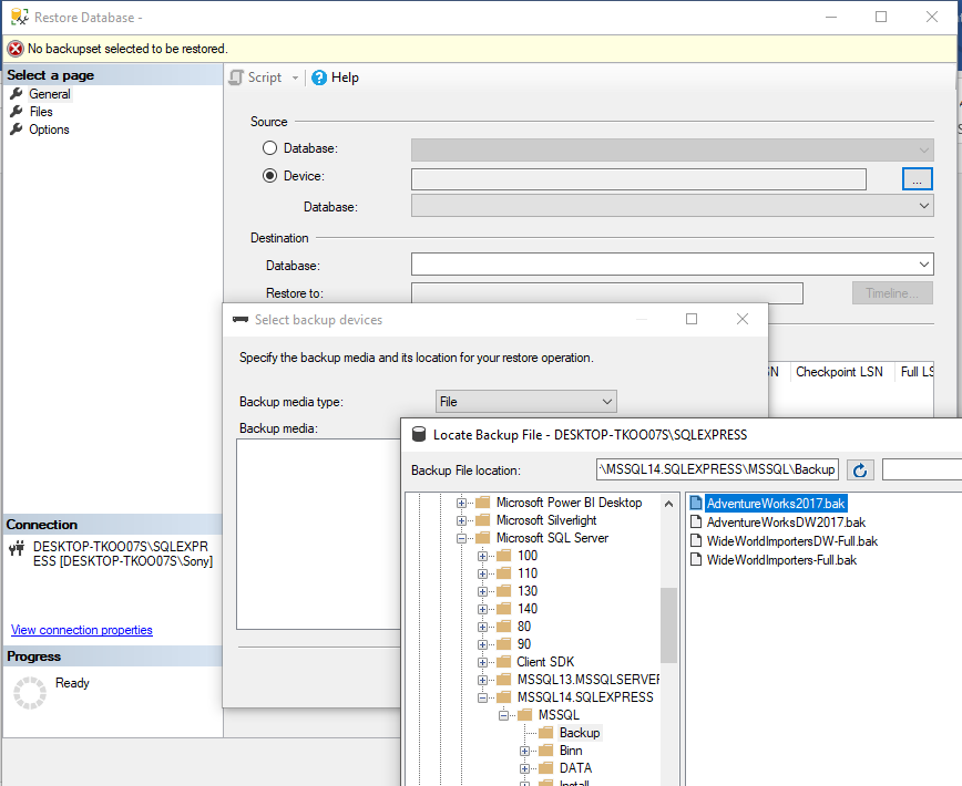 Download & Install Free Microsoft SQL Server & Install AdventureWorks Database & Data Warehouse 37