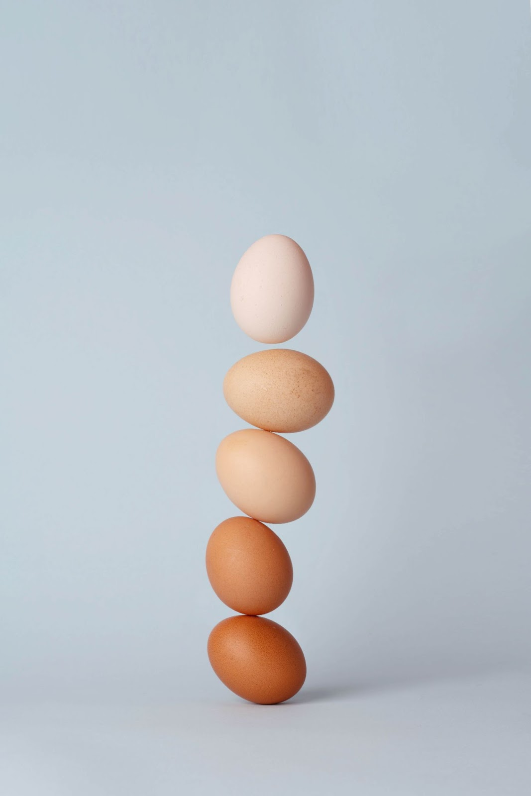 It's all about balance! A tower of eggs.
