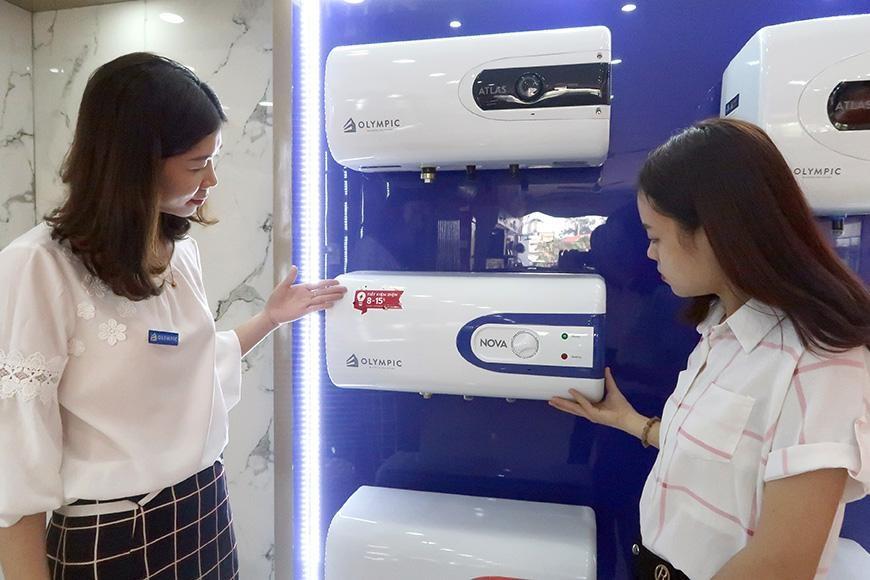 Mua hàng tại đại lý bình nóng lạnh Olympic tỉnh Quảng Trị