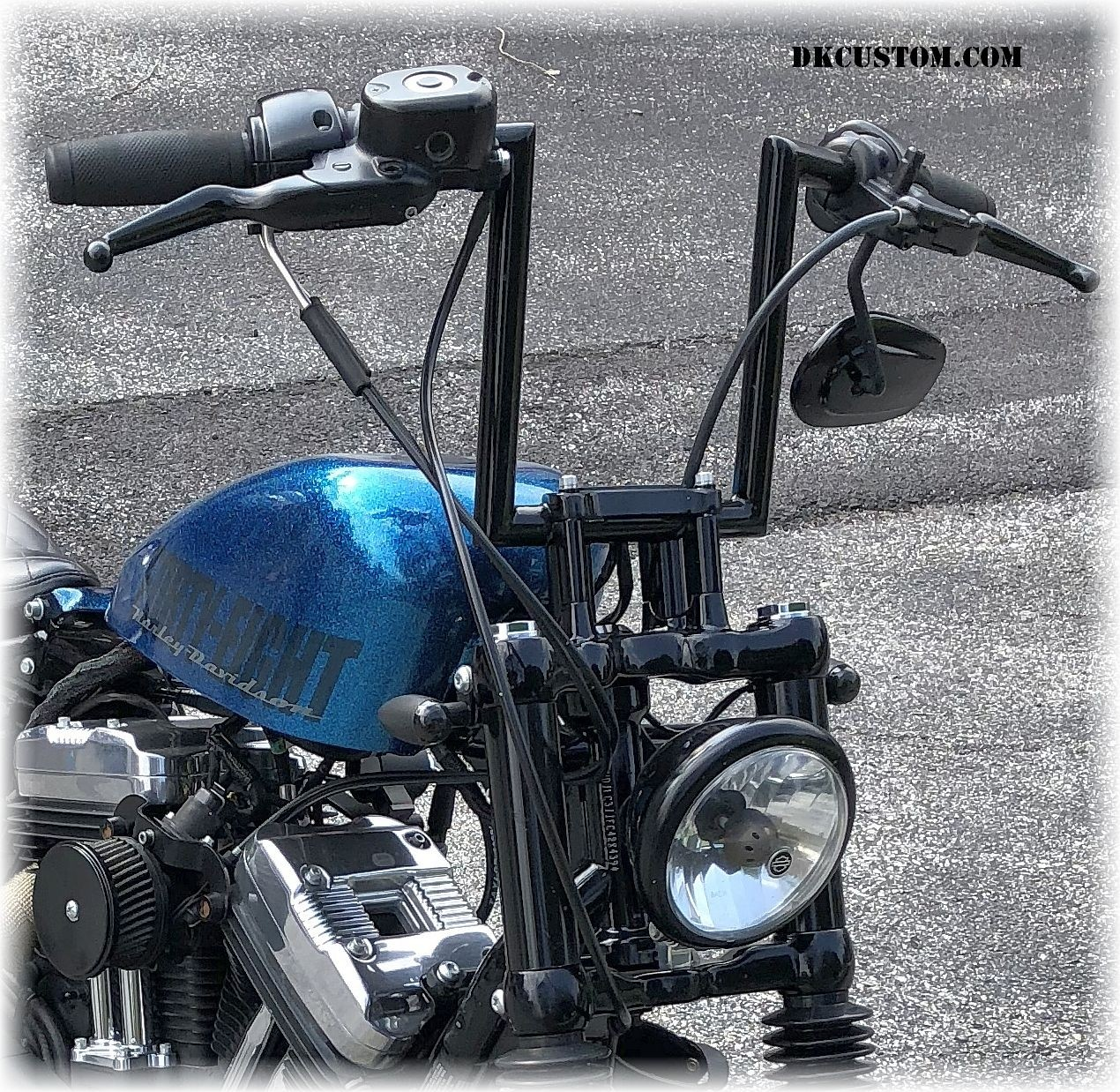 DK Custom Stealth Handlebar Riser Extension Harley Davidson 48 Forty Eight Sportster