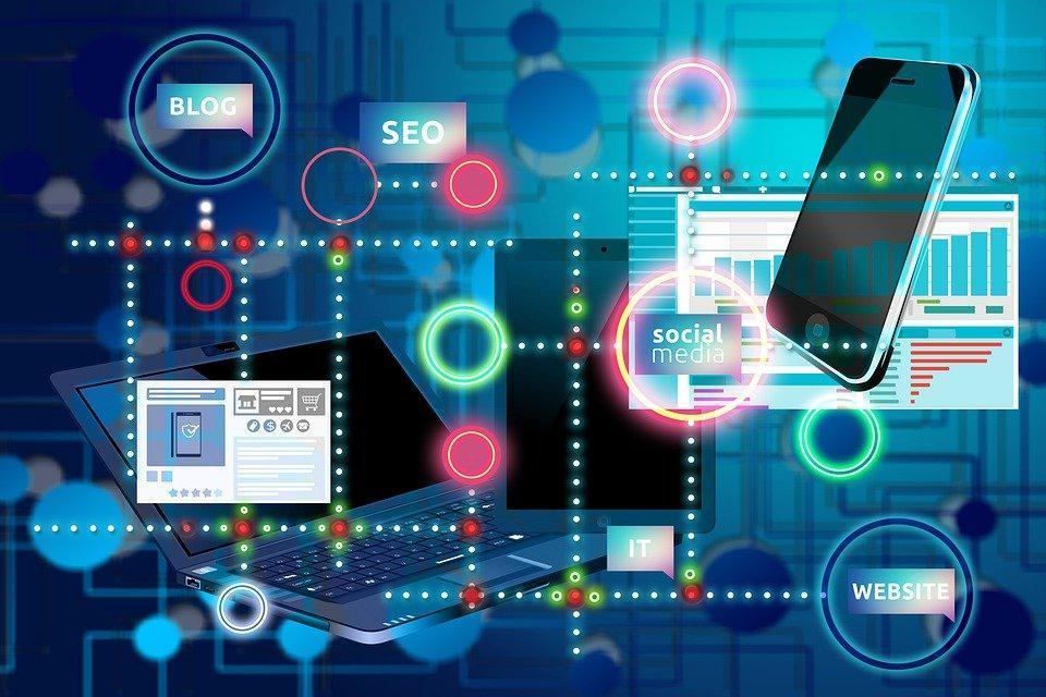 インターネット, 社会的なメディア, ネットワーク, ブログ, ページ, Seo, 最適化, 統計情報
