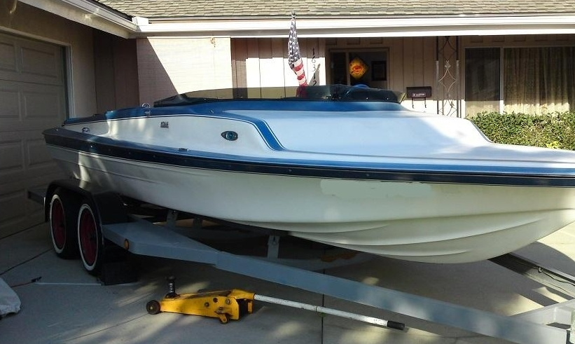 Blue And White Paint Boat