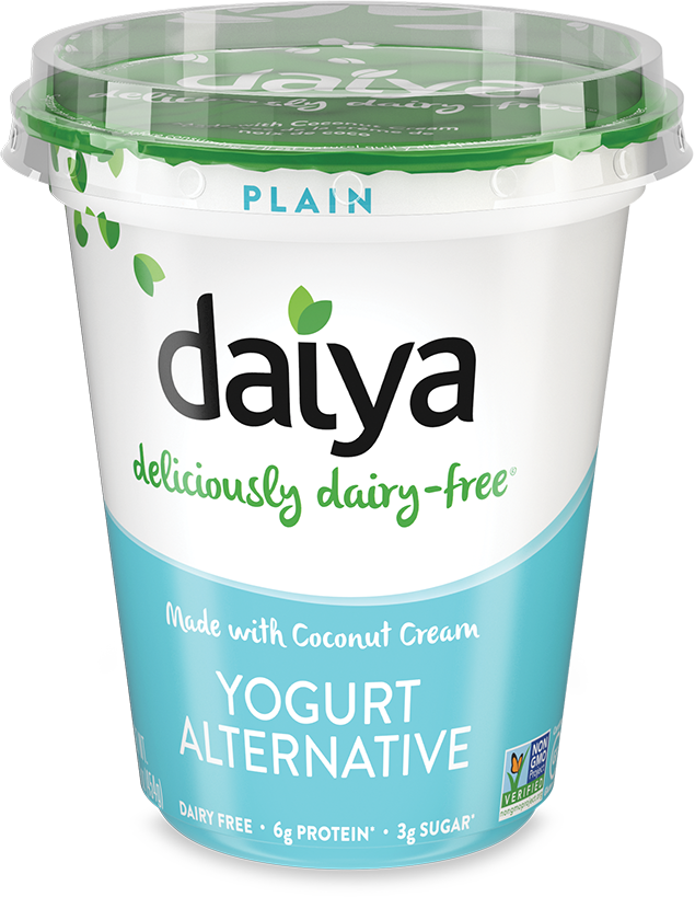 image of a tub of vegan yogurts from the Daiya brand