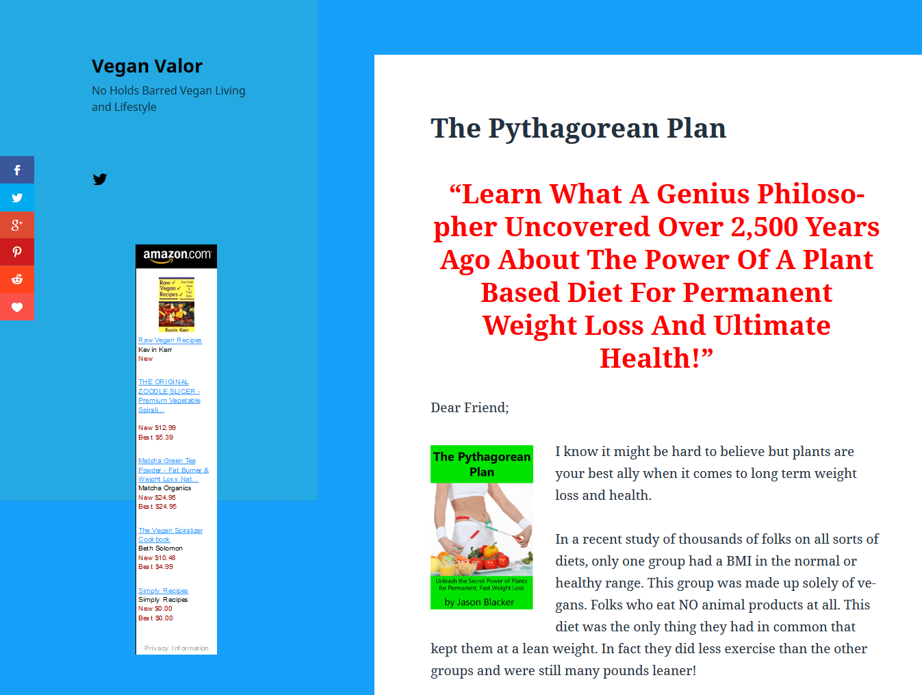 Pythagorean Plan Sales Page Top Section